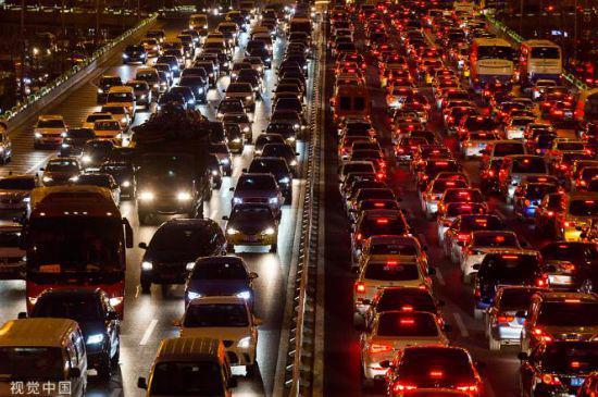 圖8:堵車,來源:視覺中國