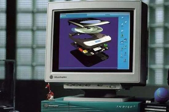SGI公司1993发布的Indigo2图形工作站   图源:SGI Tech