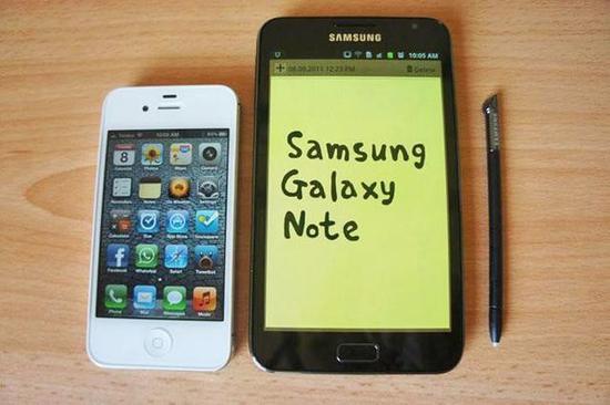 三星Galaxy Note对比iPhone 5
