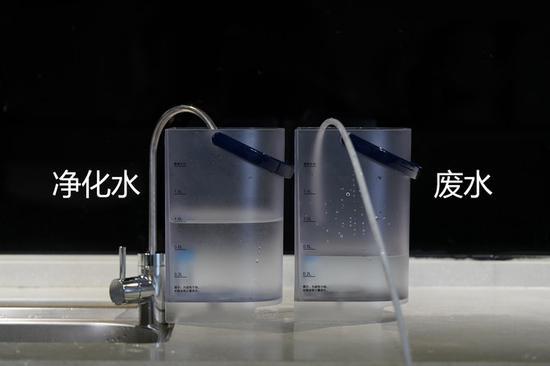 实测显示制造1L的净水产生的废水约为0.5L,比官方数据更优秀