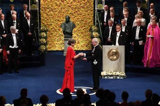 瑞典国王赋予唐娜·斯特里克兰奖章