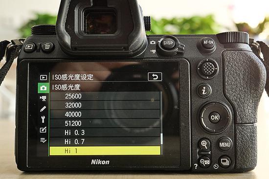 尼康Z 6标准感光度为ISO 100-51200,最高可扩展至ISO 204800