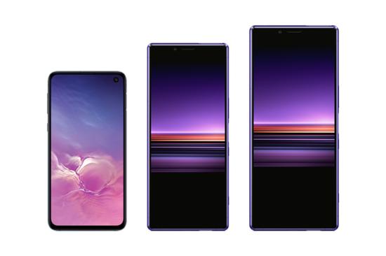 三星Galaxy S10e、索尼Xperia 10 Plus、索尼Xperia 10 Ultra渲染图