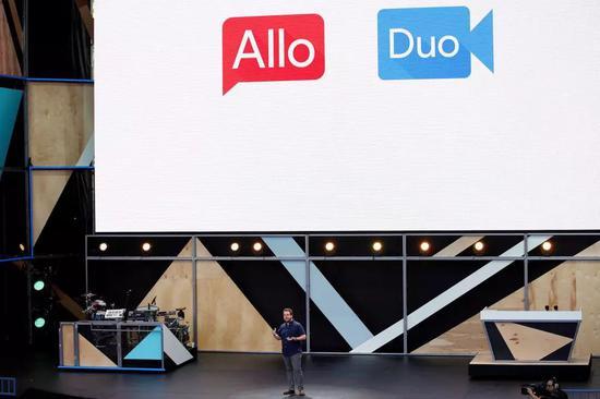 Google Allo 和 Duo 亮相Google I/O 2016 /视觉中国