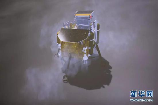 登录月球的嫦娥四号探测器(图片来源:新华网)