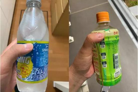 日本PET饮料瓶标签处的易撕部分(图片来源:作者拍摄)