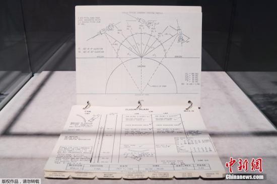 2019年7月10日,美国纽约佳士得拍卖行举行阿波罗11号登月时间表媒体预展。