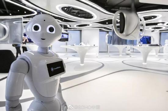 ▲5G实验室内部环境 来源:SOHO中国官方微博