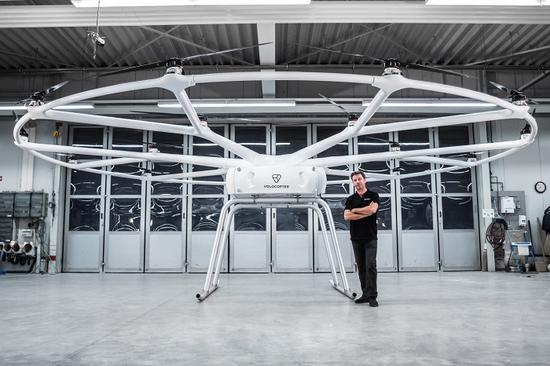 Volocopter推出大型多轴无人飞行器,可承重440磅重物
