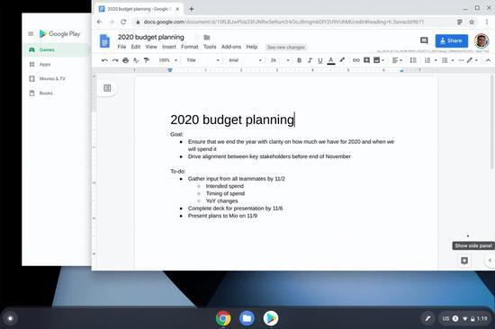 谷歌Chrome OS 78最新稳定版本发布,该操作系统带来三个新功能