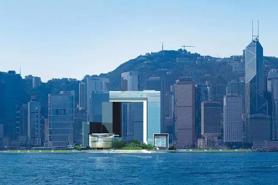 香港维多利亚湾旁的添马舰香港政府总部 | 搜狐