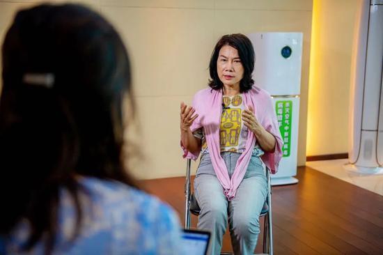 董明珠批准21记者独家专访现场图(摄影 甘俊)