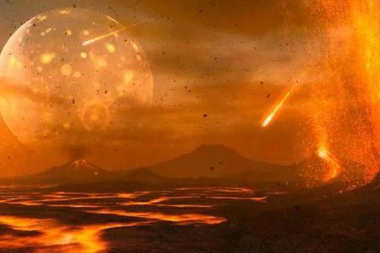 地球早期环境想象图