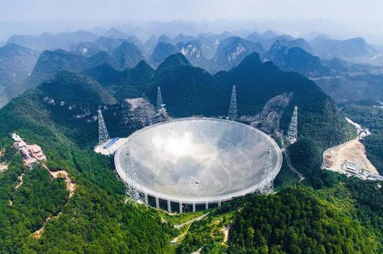 """位于贵州平塘的""""中国天眼""""。"""