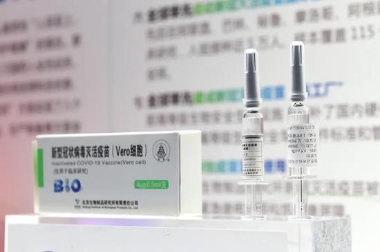 资料图:国产新冠灭活疫苗亮相2020年服贸会(中国搜索 宋家儒摄)