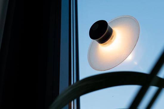 吸附在玻璃上的neozoon吸盘灯
