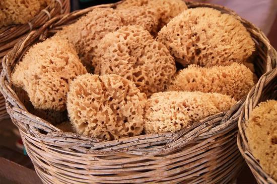 天然海绵制造的海绵。图片来源:pixabay