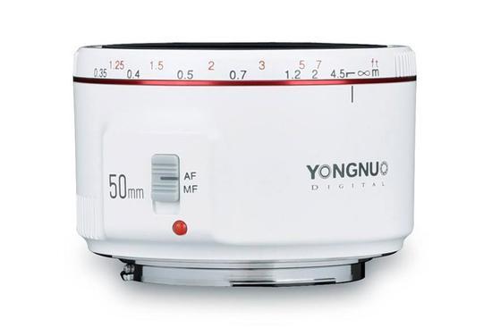永诺新款白色版YN 50mm f/1.8 II镜头即将开售