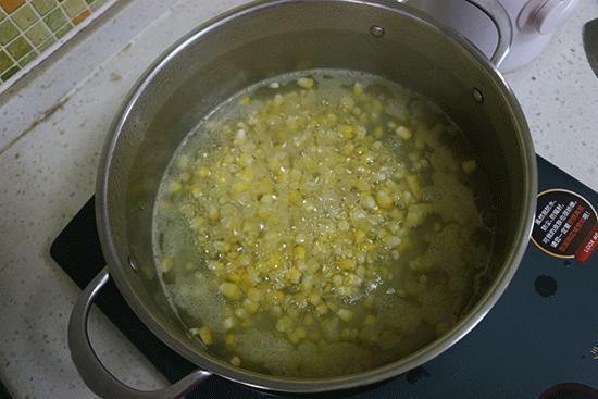 玉米粒焯水