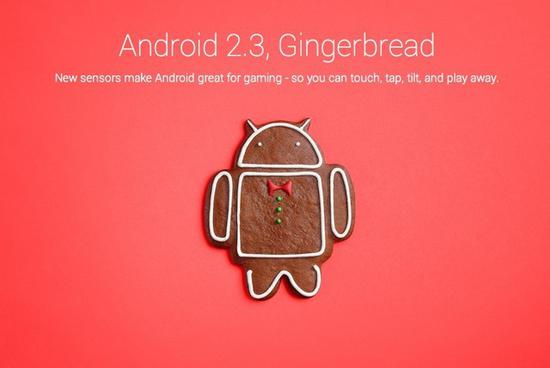 Android 2.3代号Gingerbread(姜饼)