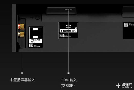 索尼Z9G电视接口