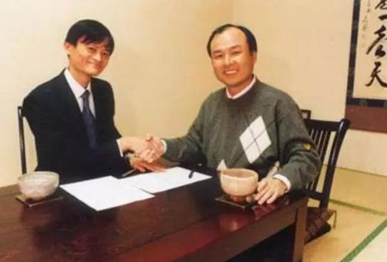 图注:马云和孙正义