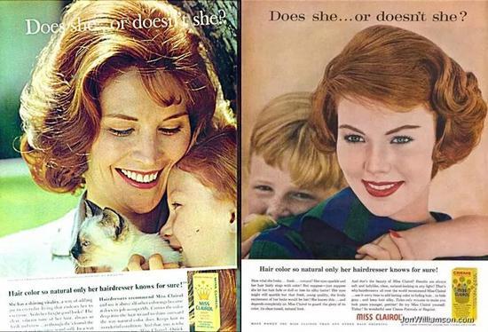 Clairol公司染发剂产品广告,1956年