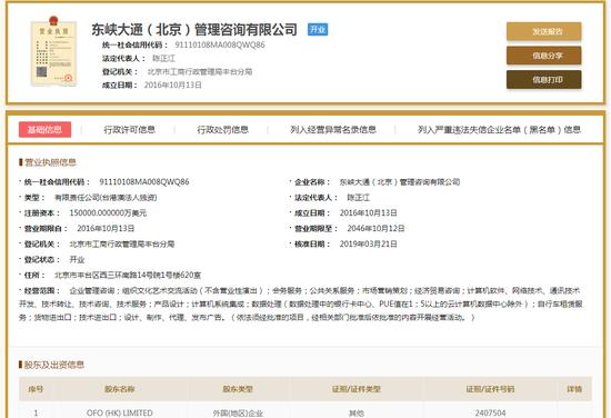 国家企业信用信息公示系统截图