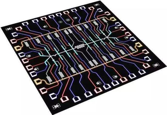 20比特量子芯片示意图