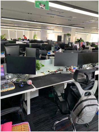 今天的熊猫直播总部办公室