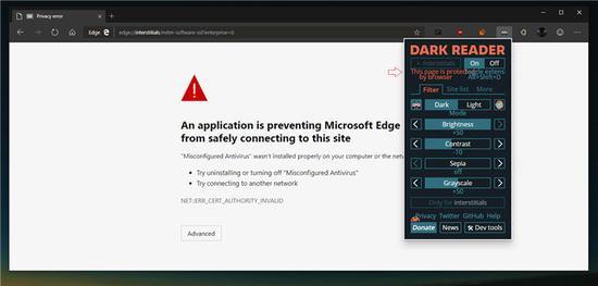 微软改进Chromium版Edge浏览器黑暗模式