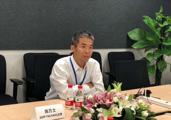 3GPP TSG RAN1主席陈万士博士/摄影:环球网记者 李浩