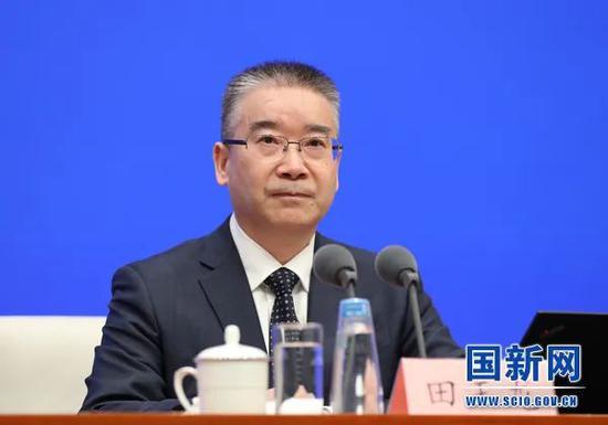 ▲工业和信息化部党组成员、总工程师、新闻发言人田玉龙