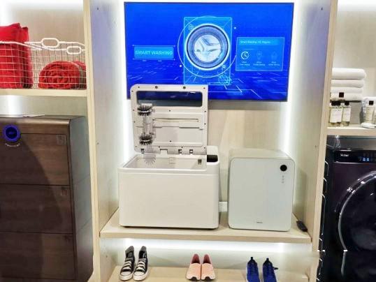 海尔智能洗鞋机