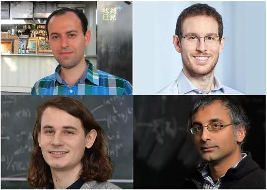 Caucher Birkar(左上)、Alessio Figalli(右上)、Peter Scholze(左下)、Akshay Venkatesh(右下)(图源:impa.br)