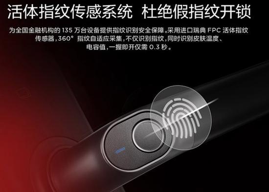 电容式指纹传感器具有最高的坦然性