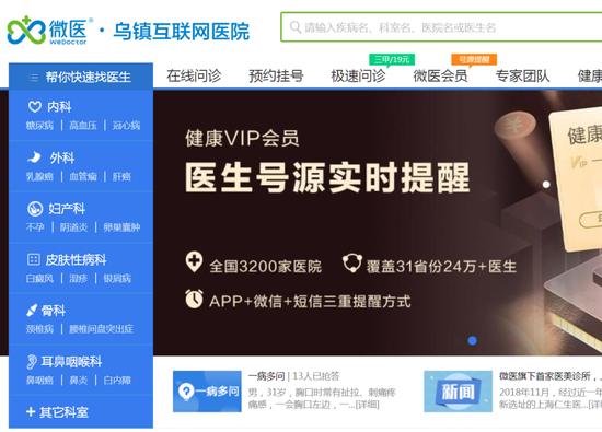 """互联网医疗""""独角兽""""微医控股要赴港IPO 三年巨亏79亿"""