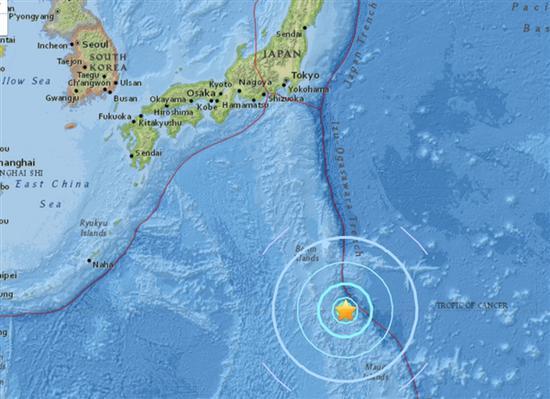 8月17日凌晨2点 日本火山列岛发生6.4级地震