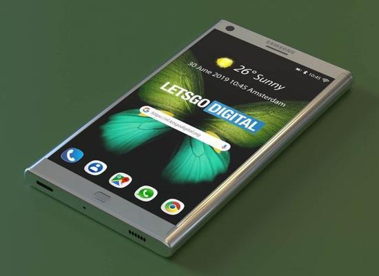三星新折叠屏手机渲染图(图取自LetsGoDigital)