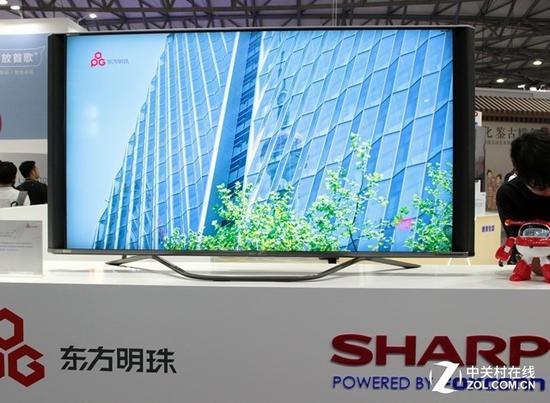 夏普展出8K分辨率电视