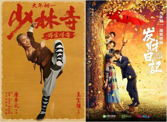 今年春节期间,两部参与网络电影春节档的影片《少林寺之得宝传奇》和《发财日记》以PVOD模式向用户提供购买