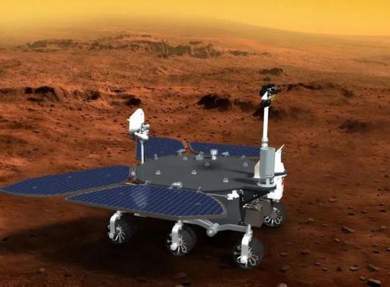火星车开展工作(供图/贾阳)