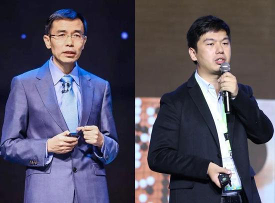 商谈创首人汤晓鸥(左)、说相符创首人徐立(右),图源:网络