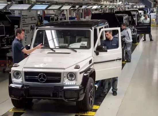 麦格纳工厂生产的奔驰G-Class