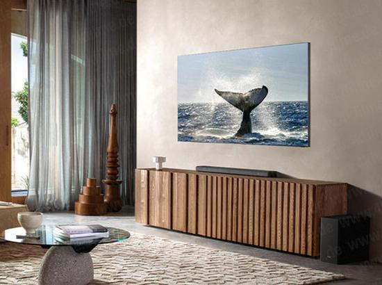 三星无边框8K QLED电视概念图