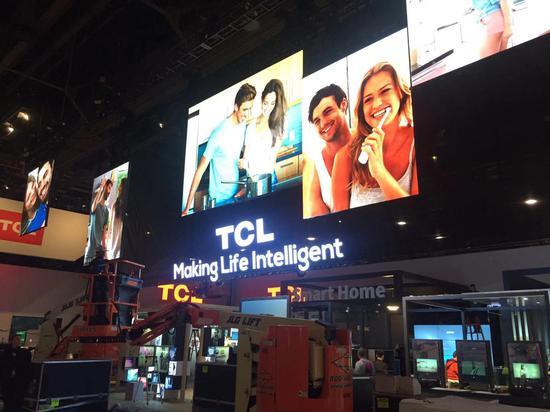 TCL、华为、海信、海尔、长虹等中国企业在CES中心展馆的展位面积不断扩张