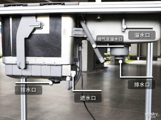 方太水槽洗碗机JBSD2T-Q8,接口细节展示