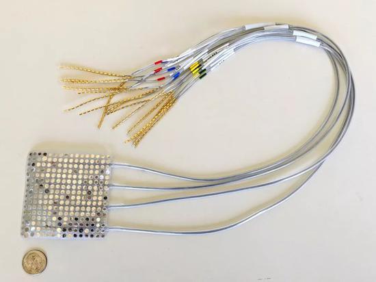 ECoG电极阵列由记录大脑活动的颅内电极组成