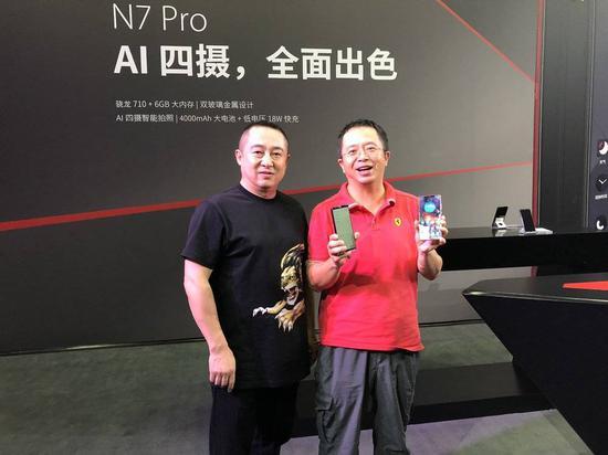 360手机总裁李开新与周鸿祎