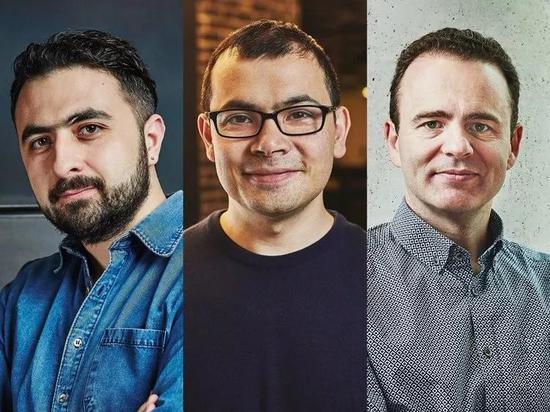 DeepMind 的三位聯合創始人:Mustafa Suleyman(左),Demis Hassabis(中)和 Shane Legg(右)